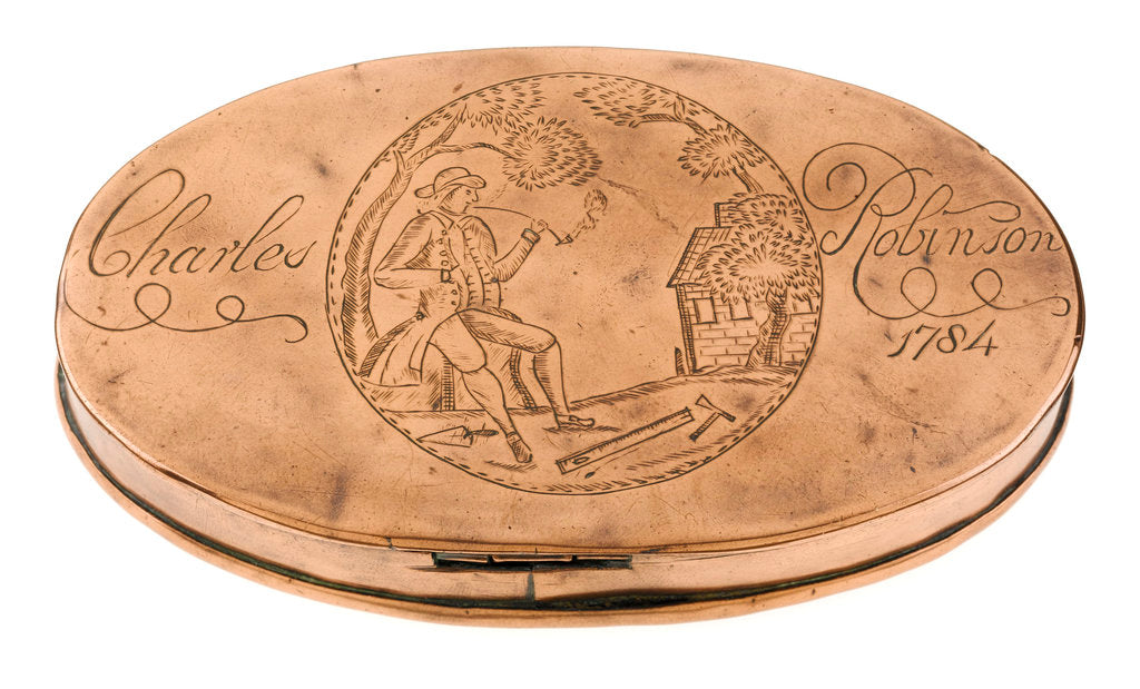 Detail of Tobacco box by unknown