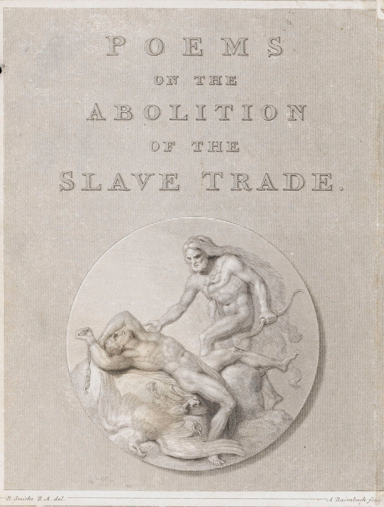 Detail of Poems on the abolition of the slave trade by Robert Smirke