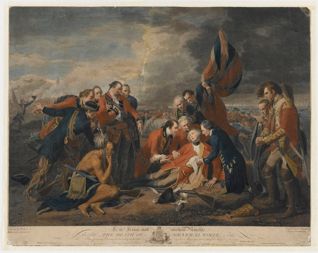 Detail of The death of General James Wolfe, 1759 by Benjamin West