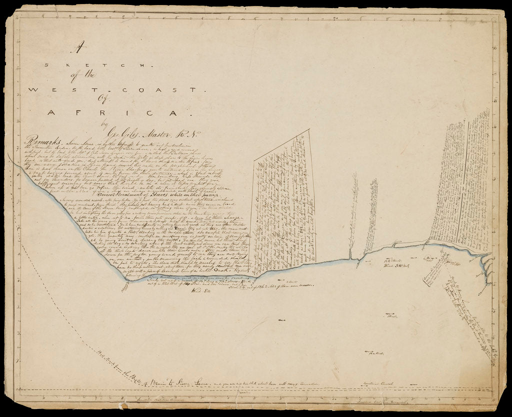 Sketch of the west coast of Africa by George Giles