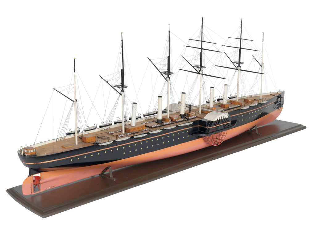 Detail of Painted model of 'Great Eastern' (1858) by unknown