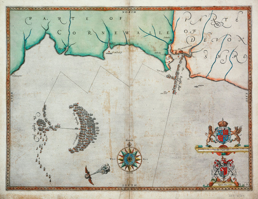 Detail of The English engage the Spanish fleet near Plymouth on 31 July, 1588 by Robert Adams