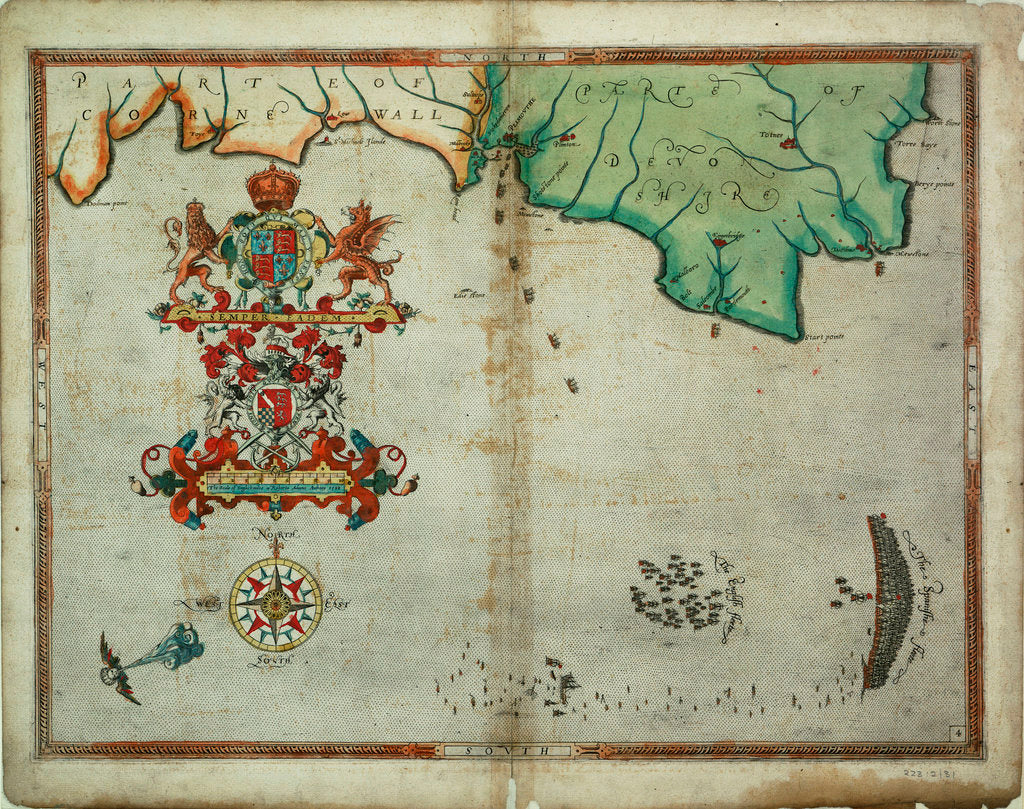 Detail of The English and Spanish fleets on 1 - 2 August, 1588 by Robert Adams
