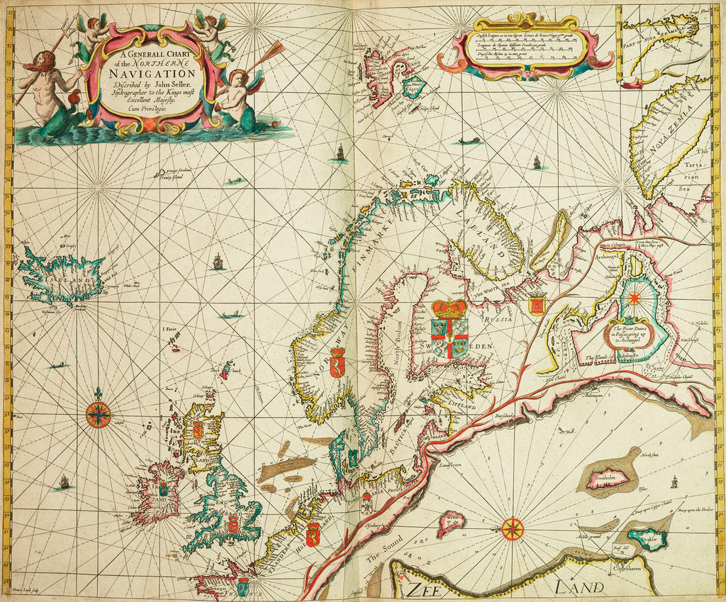 Detail of A general chart of the northern navigation by John Seller