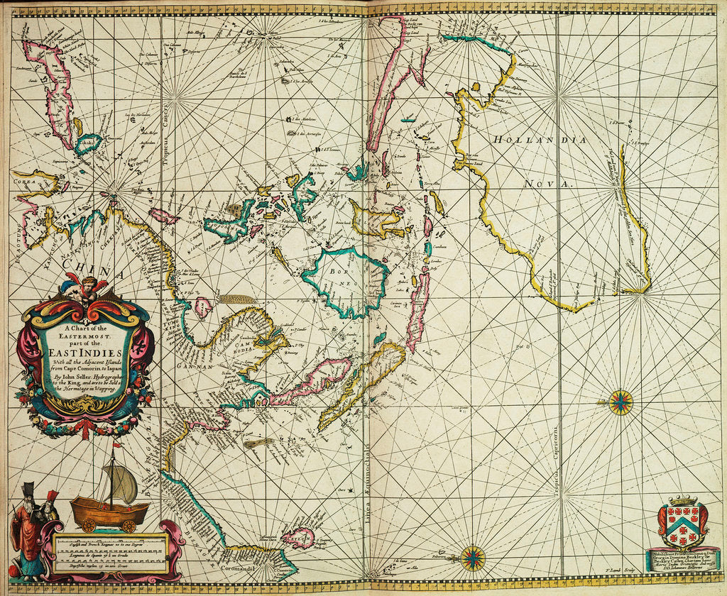 Detail of A chart of the easternmost part of the East Indies with all the adjacent islands from Cape Comorin to Japan by John Seller