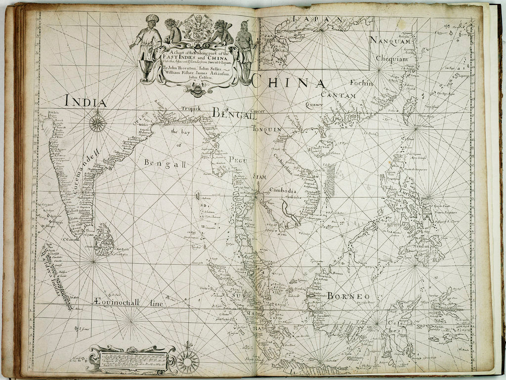 Detail of A chart of the trading part of the East Indies and China, with the adjacent islands, from Surrat to Japan by John Seller