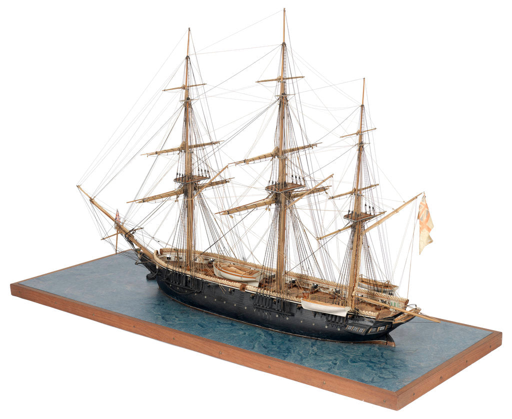 Detail of Model of 28-gun frigate HMS 'Samarang' (1822) by unknown