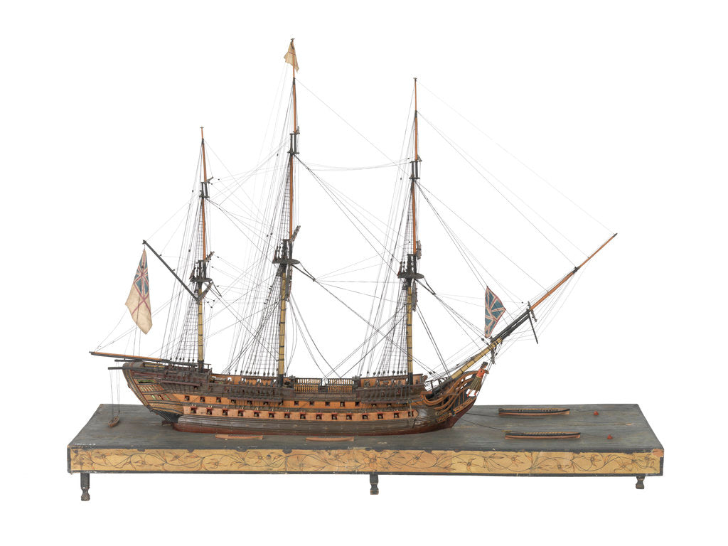 Detail of Warship (Fr, circa 1800) by unknown