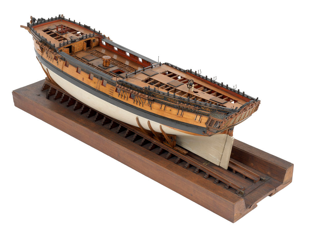 Detail of Model of a warship (1757); frigate fifth rate, 32 guns by unknown