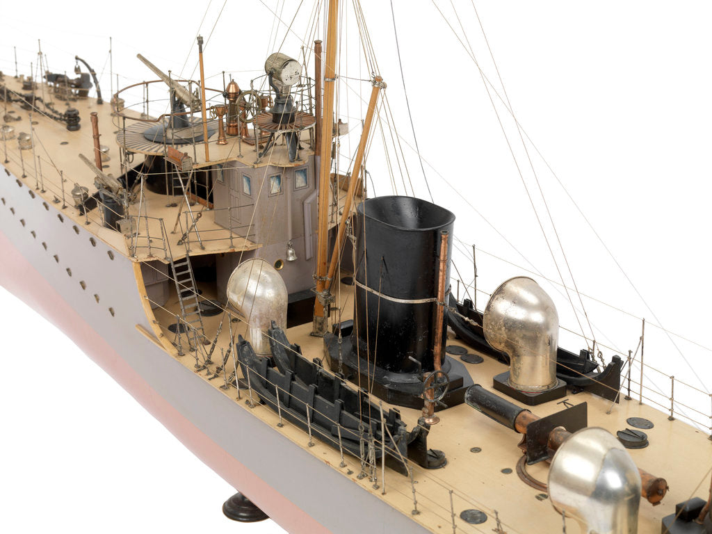 Detail of Model of destroyer HMS 'Boyne' (1904) by unknown