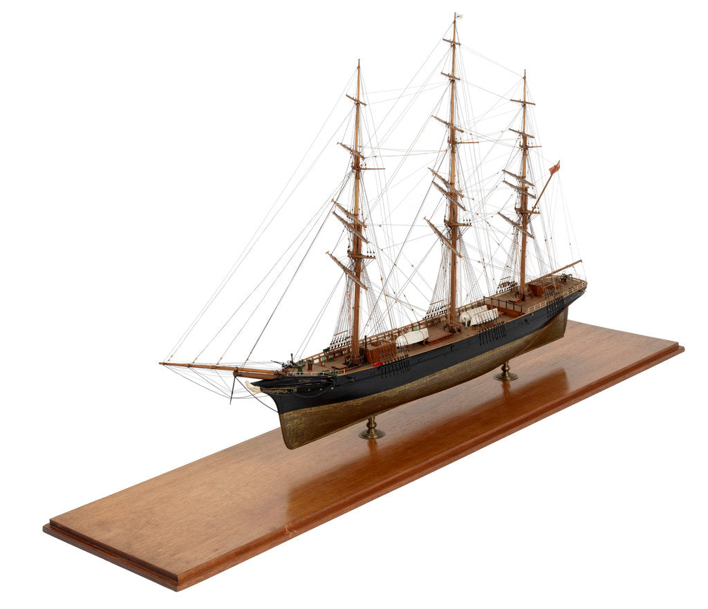 Detail of Full hull model of 'Sir Lancelot' (Br, 1865) by unknown
