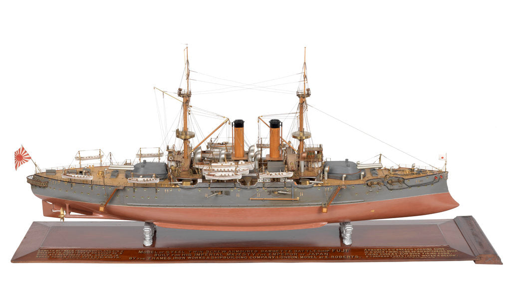 Detail of Shipbuilder's model of Japanese battleship HIJMS 'Fuji' (1896) by E. Roberts