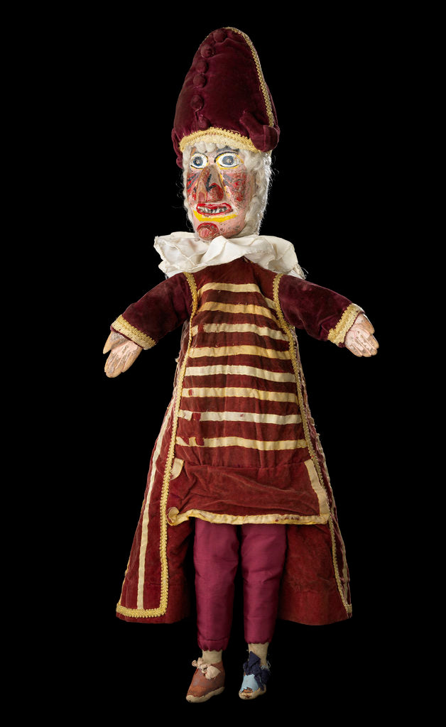 Detail of Puppet, part of Punch and Judy set by unknown