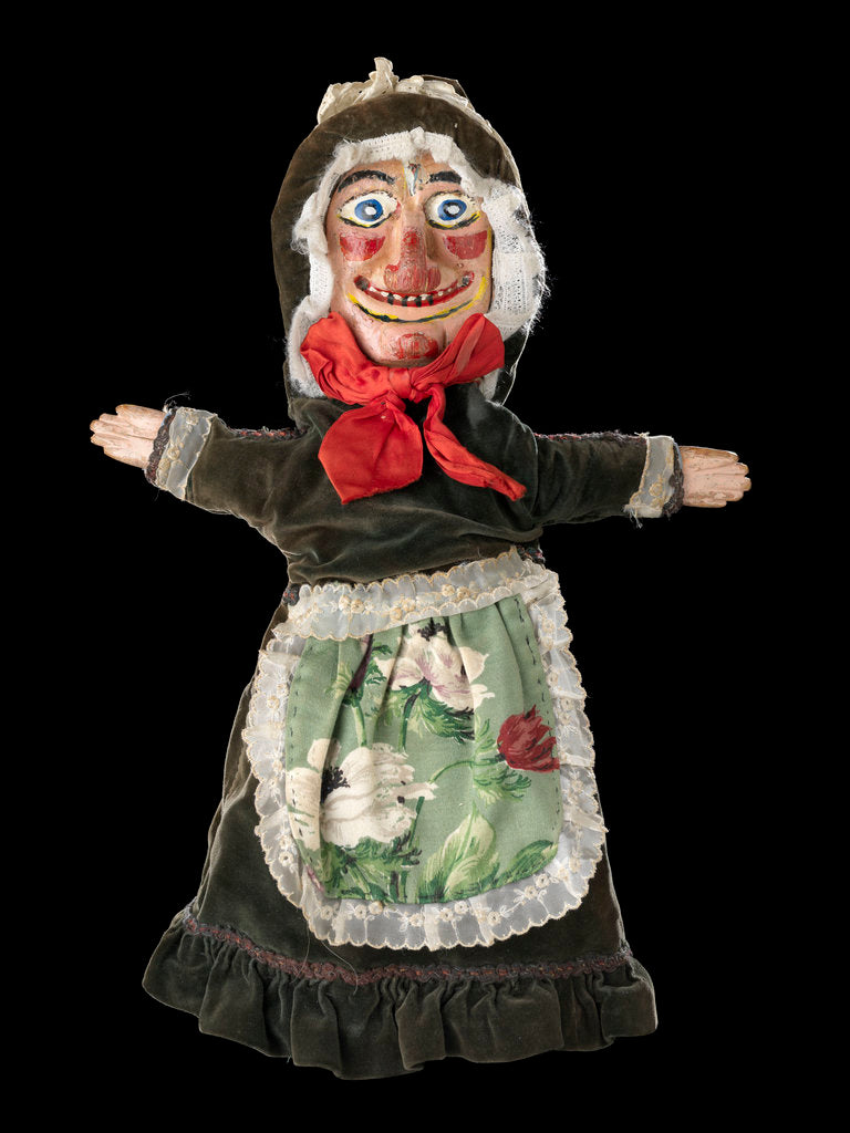 Detail of Puppet 'Judy', part of Punch and Judy set by unknown