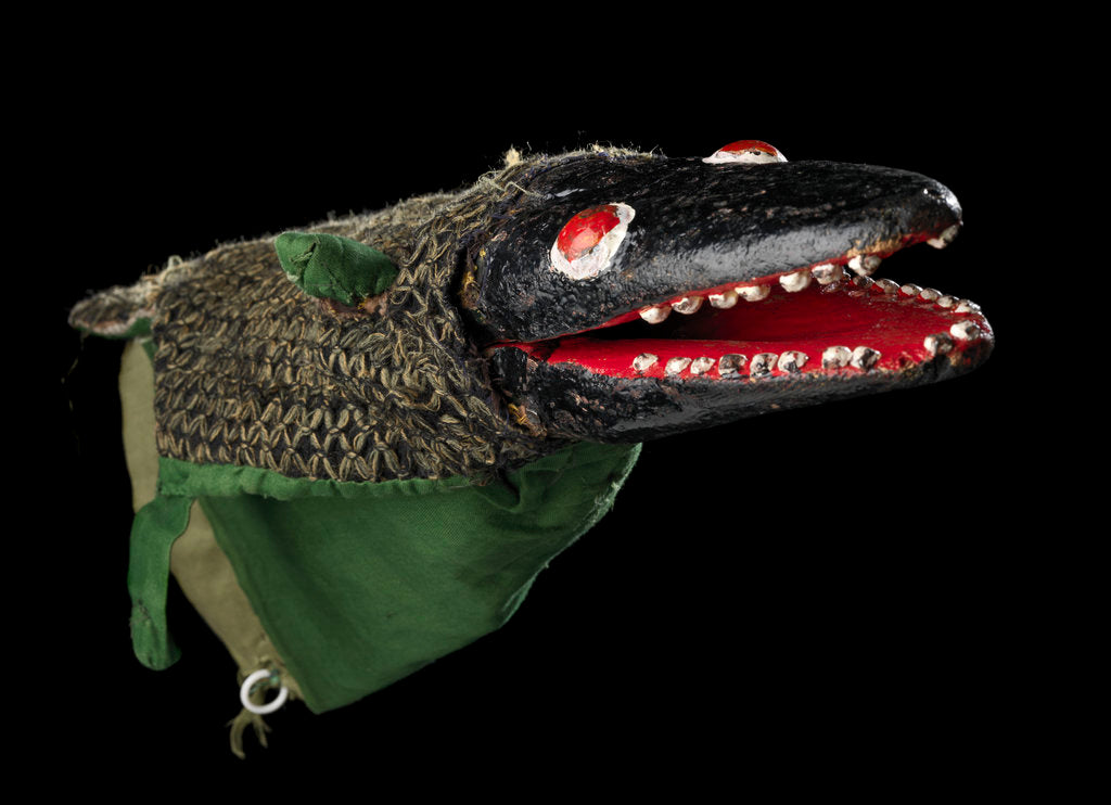 Detail of Puppet 'Crocodile', part of Punch and Judy set by unknown