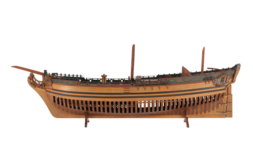 Detail of Navy Board model of yacht 'Plymouth' (1755) by unknown