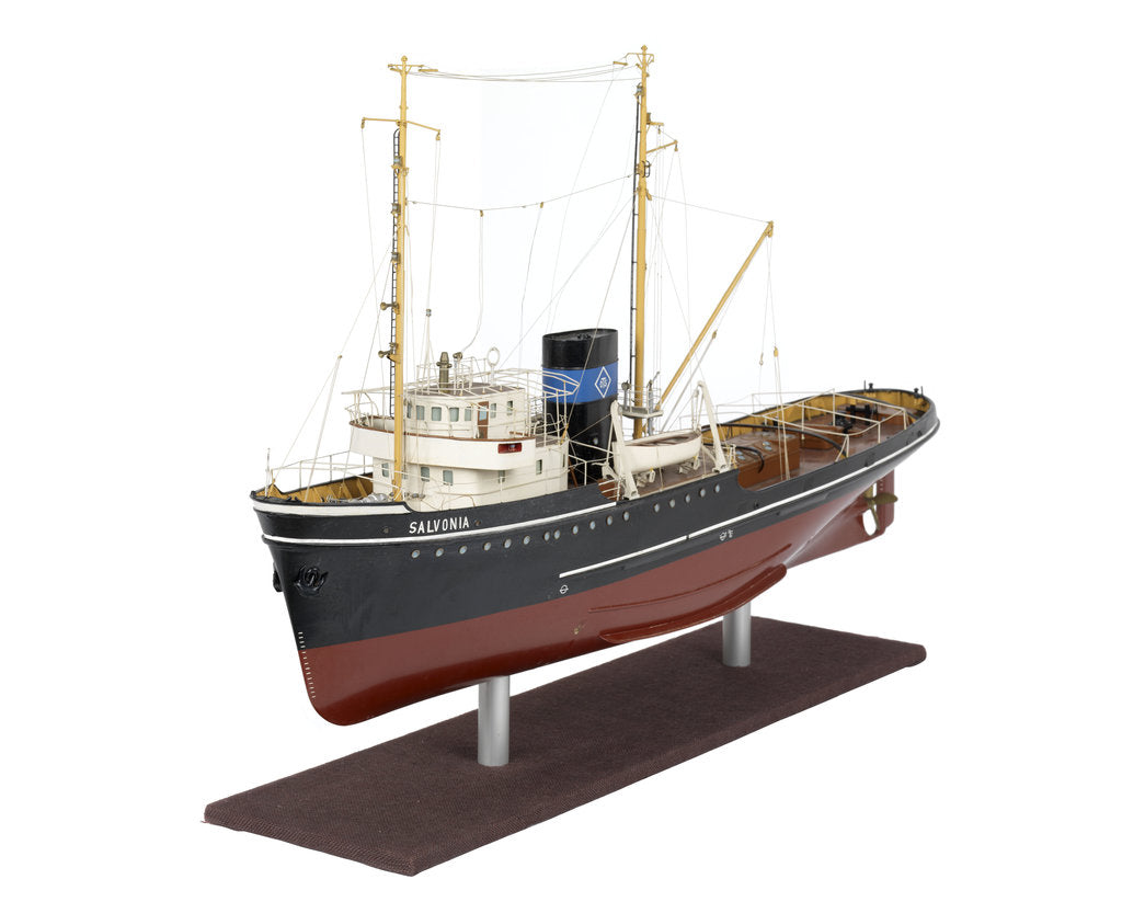 Detail of Full hull model of salvage tug 'Salvonia' (1951) by unknown