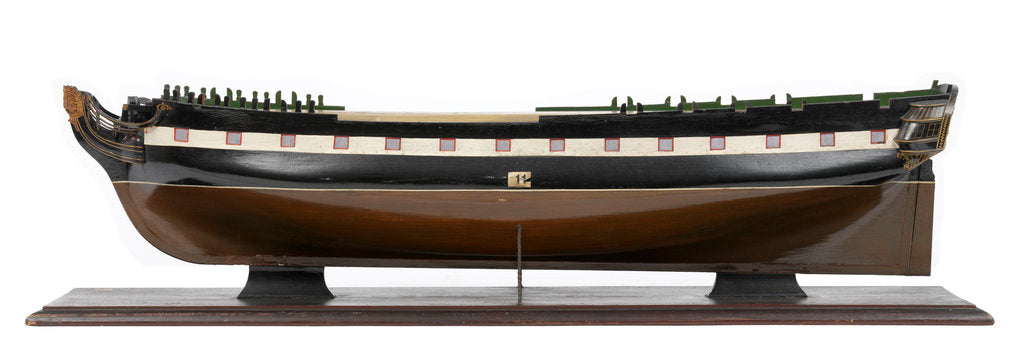 Detail of Model of the 'Modeste' (1786); Warship; French; Frigate; 32 guns by unknown