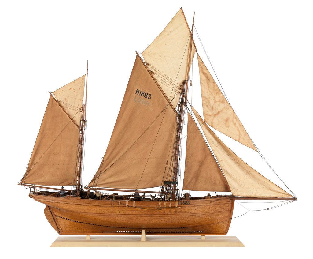 Detail of Model of the fishing smack 'Authentic' by J.W. Hodgson