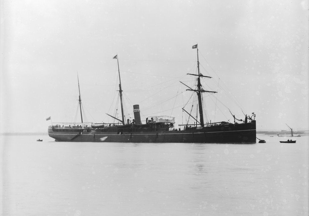 Detail of Steam liner 'Roma' (Br, 1873) ex 'County', ex 'Sutherland', British India S. N. Co. by unknown
