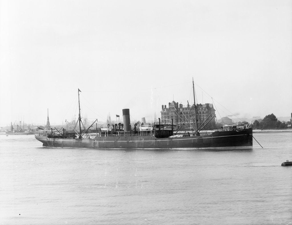 Detail of Photograph of the cargo steamer 'City of Sparta' (1897) on 19th June 1900 by unknown