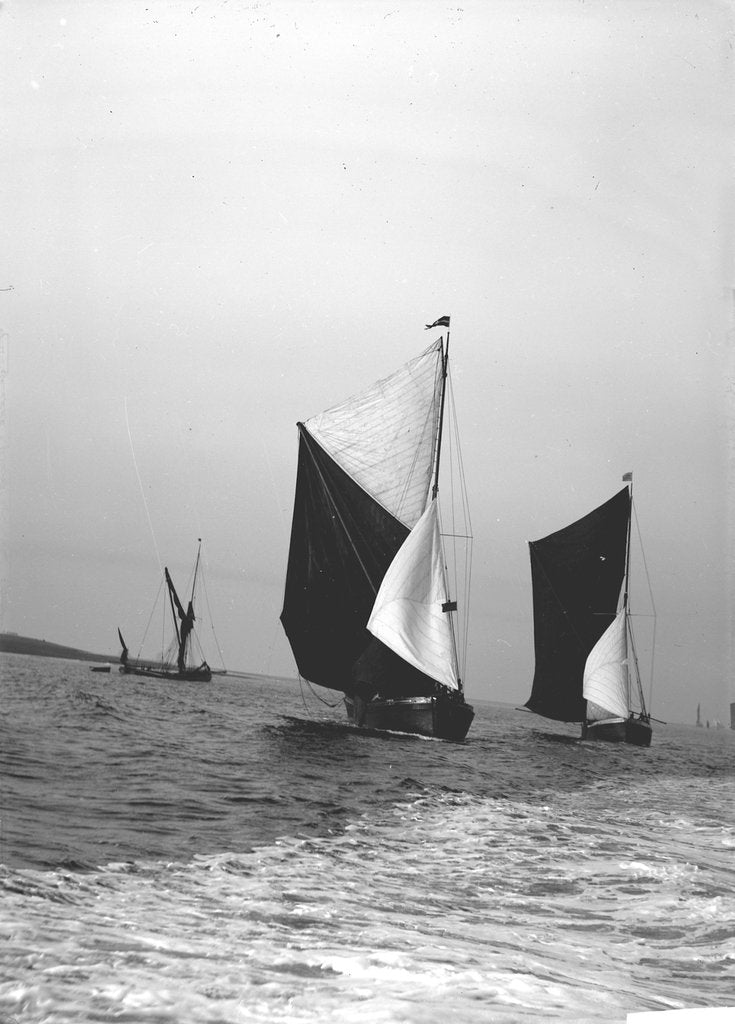 Detail of 'Gloria' (Br, 1898) and 'Sirdar' (Br, 1898) under sail by unknown