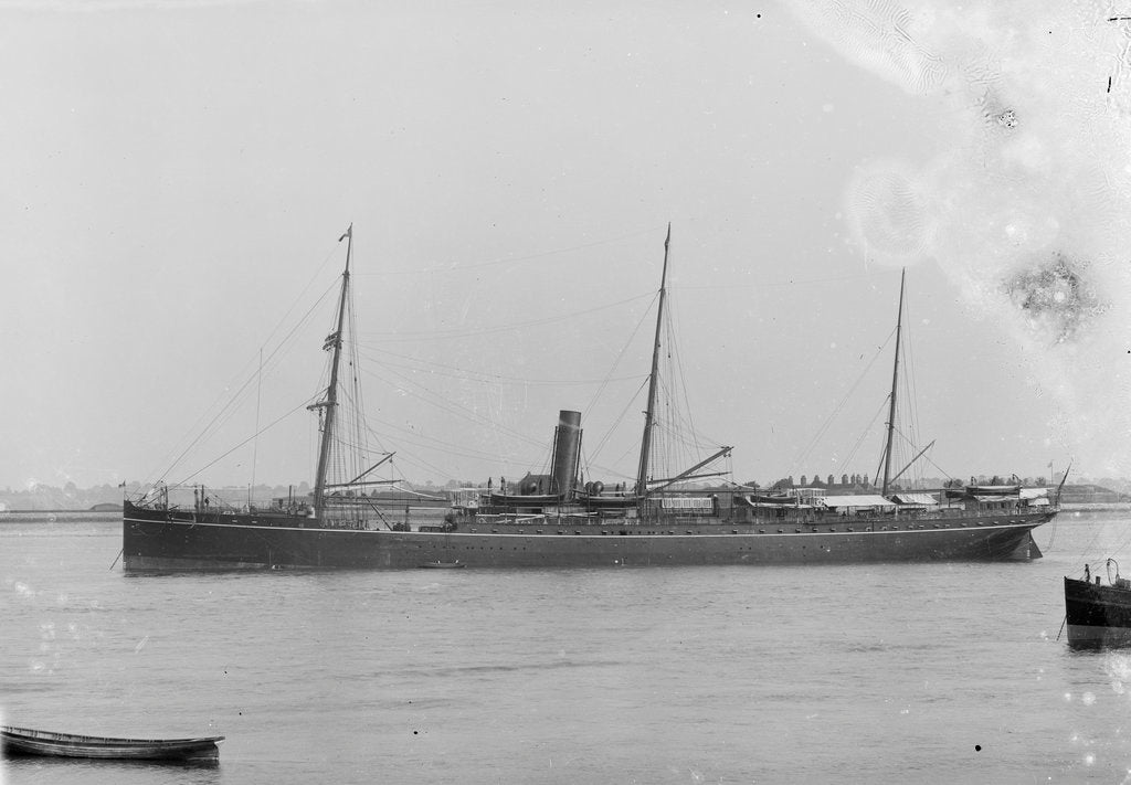Detail of The 'Bengal' (Br, 1885) at anchor by unknown