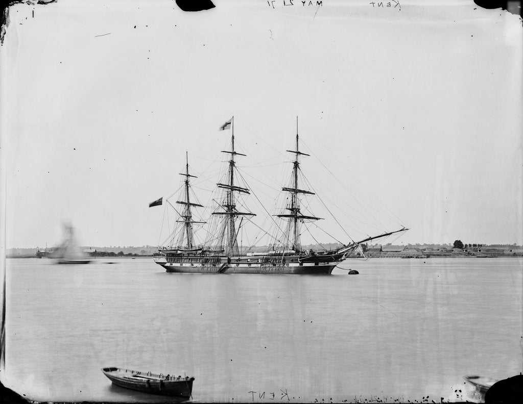 Detail of Three masted ship 'Kent' (1853) on 21st May 1871 by unknown