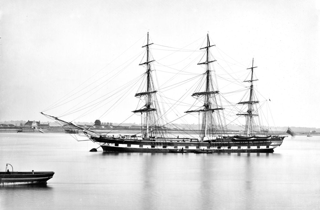 Detail of 3 masted ship 'Parramatta' (1866) on 28th August 1872 by unknown