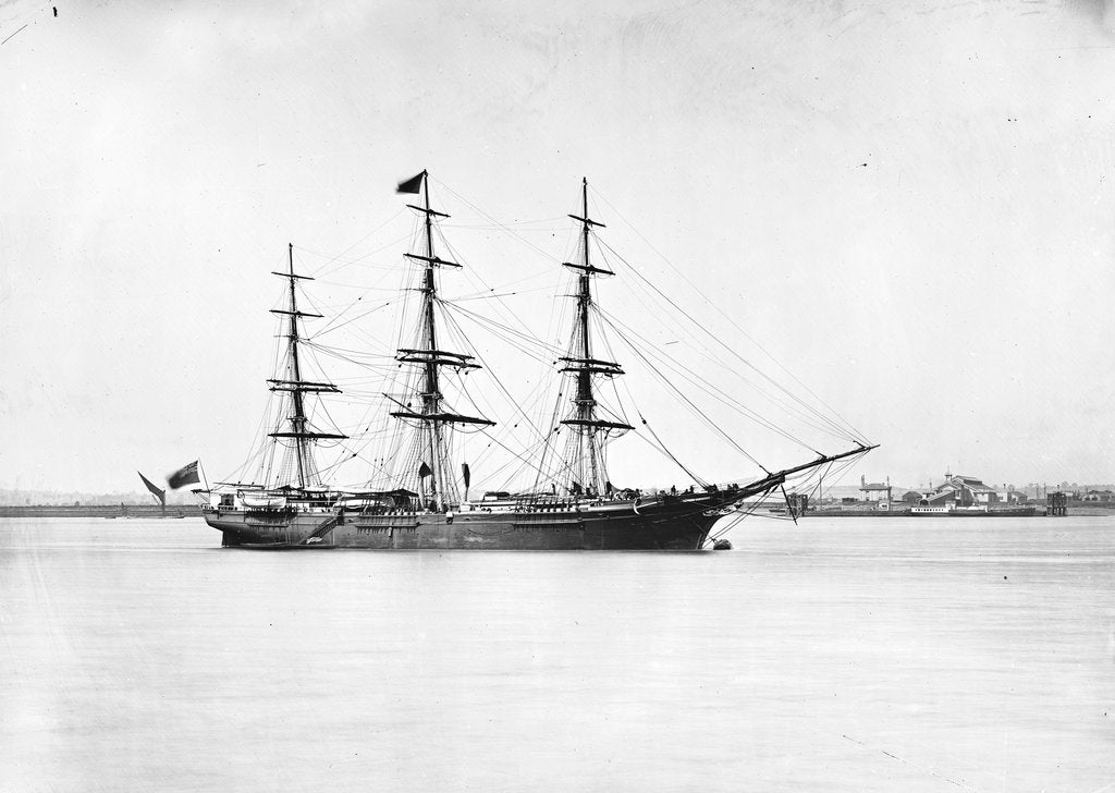 Detail of 3-masted ship 'Light Brigade' (Br, 1854) by unknown