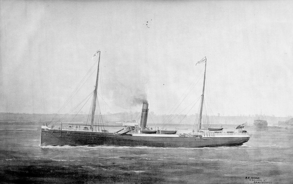 Detail of 'Marmion' cargo steamer, short sea, copy of a painting by unknown