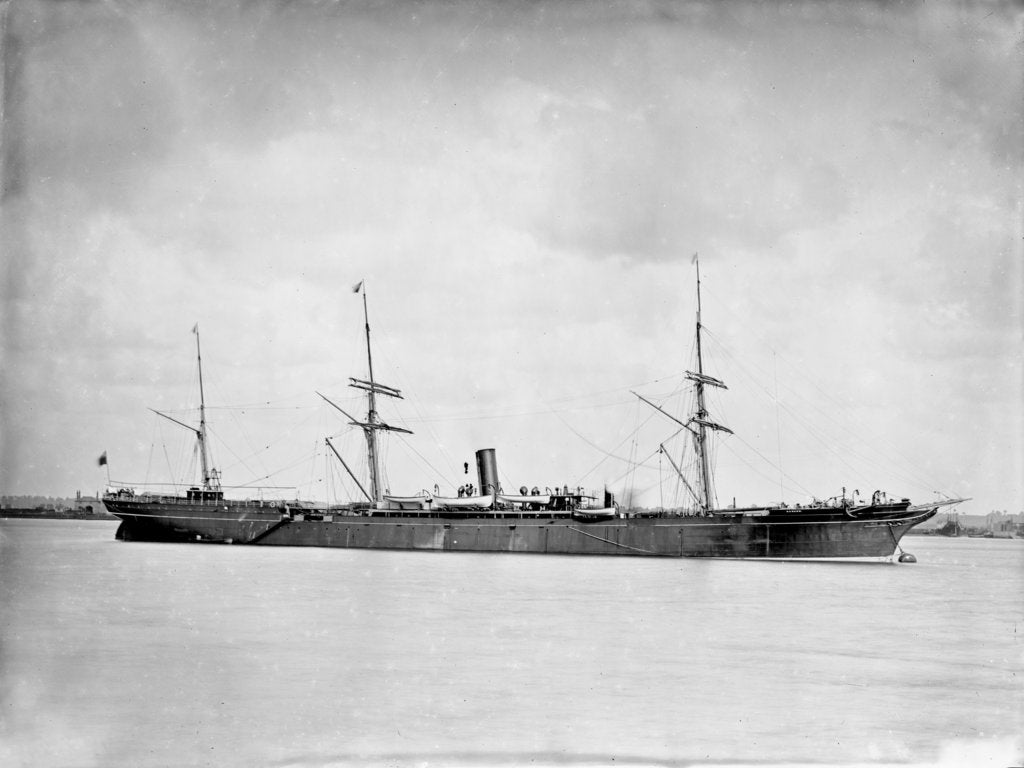 Detail of Passenger/cargo ship 'Hankow' (Br, 1873) by unknown