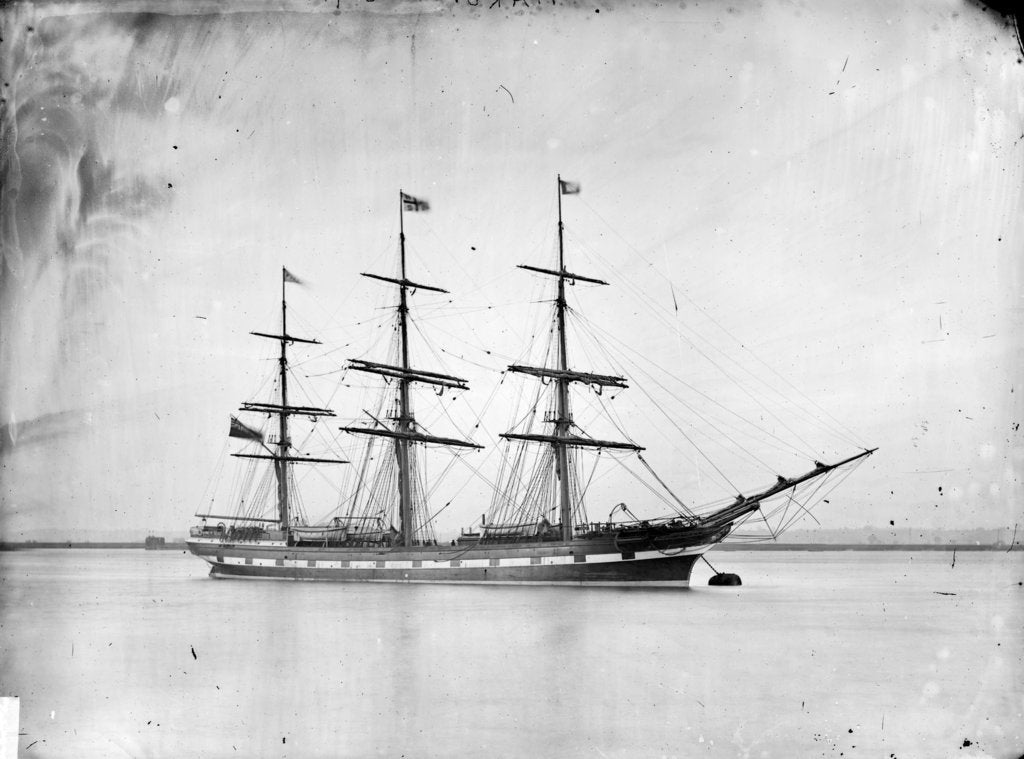 Detail of 3-masted ship 'Piako' (Br, 1876), New Zealand Shipping Company Ltd. by unknown