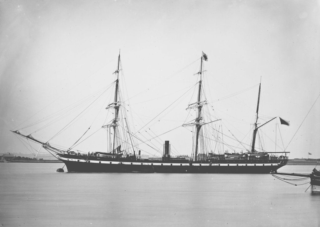Detail of Passenger liner 'Kent' (Br, 1876), R. Wigram by unknown