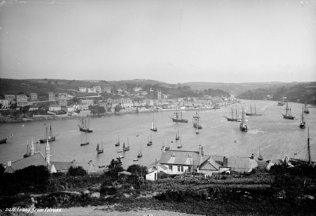 Detail of Fowey, Cornwall by Francis Frith & Co.