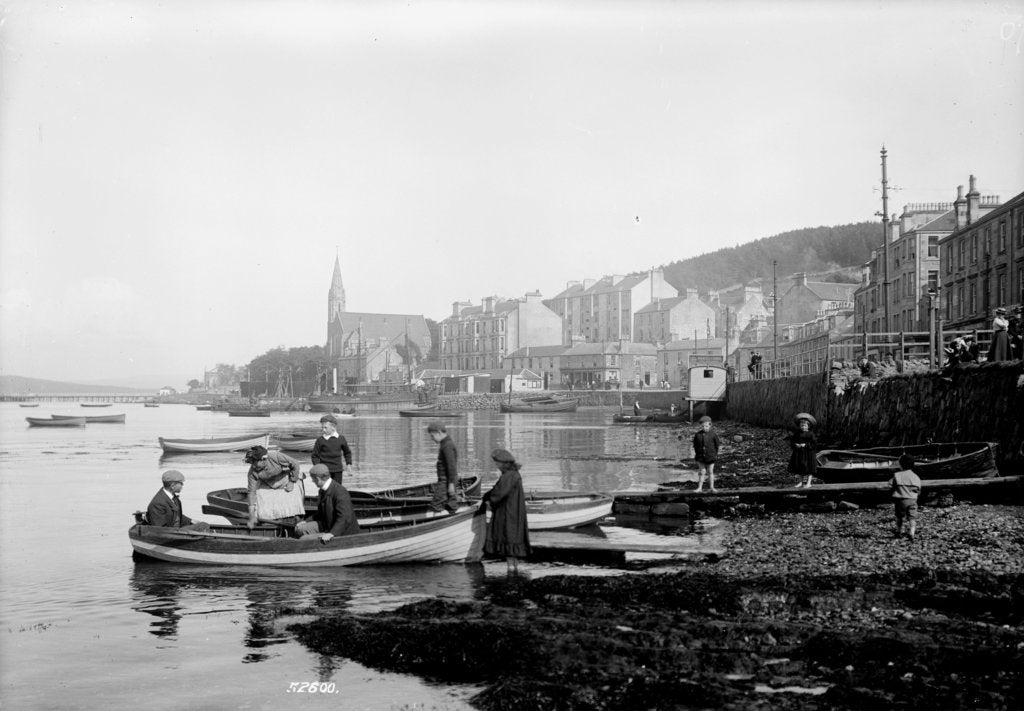Detail of Port Bannatyne, Island of Bute. A view of the town and foreshore. by National Maritime Museum