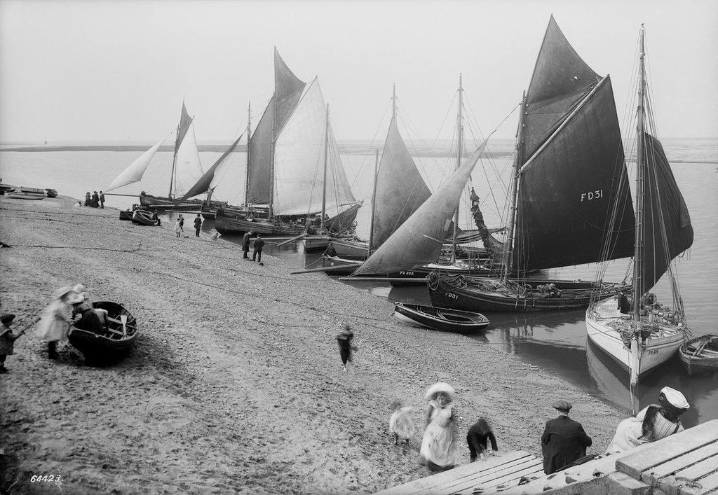 Fleetwood Beach and holidaymakers, Lancashire by National Maritime Museum