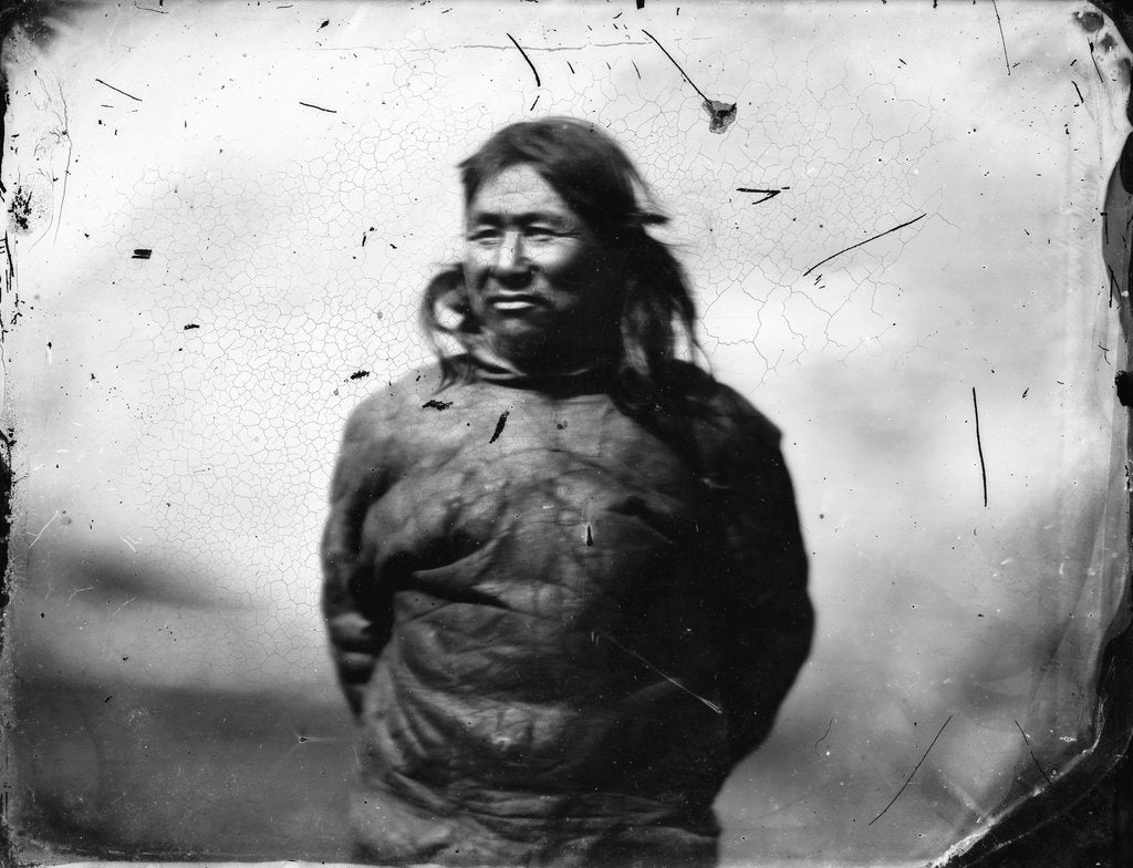 Detail of One of the Greenland Inuit by Edward Augustus Inglefield