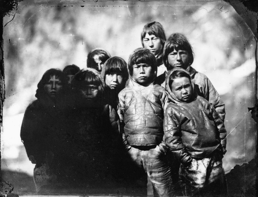 Detail of Group portrait of Inuit boys by Edward Augustus Inglefield