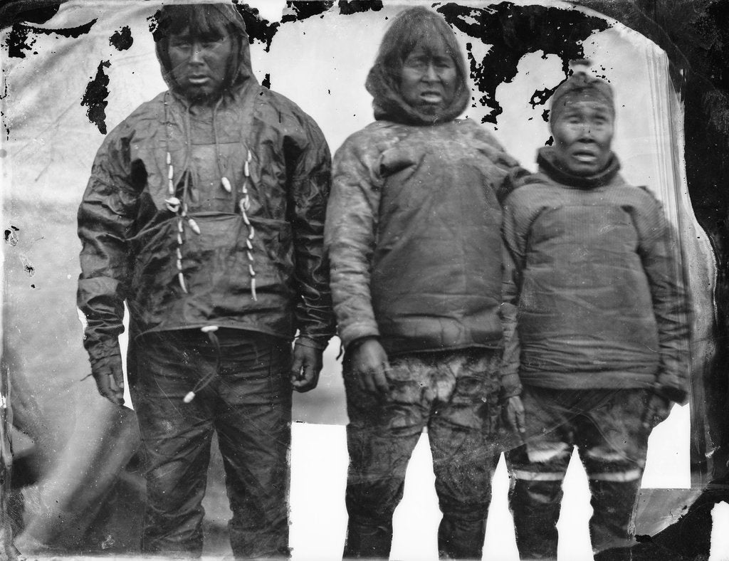 Detail of Portrait of Inuit group by Edward Augustus Inglefield