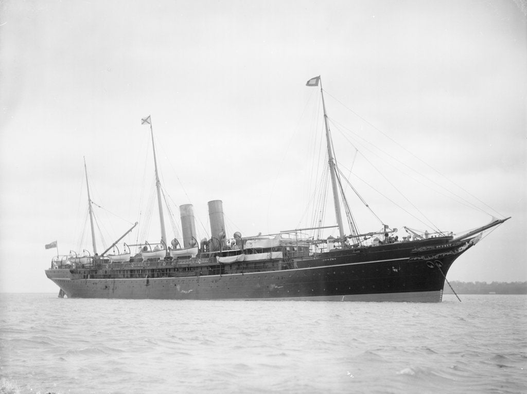 Detail of Passenger liner 'Atrato' (Br, 1888) at anchor by unknown