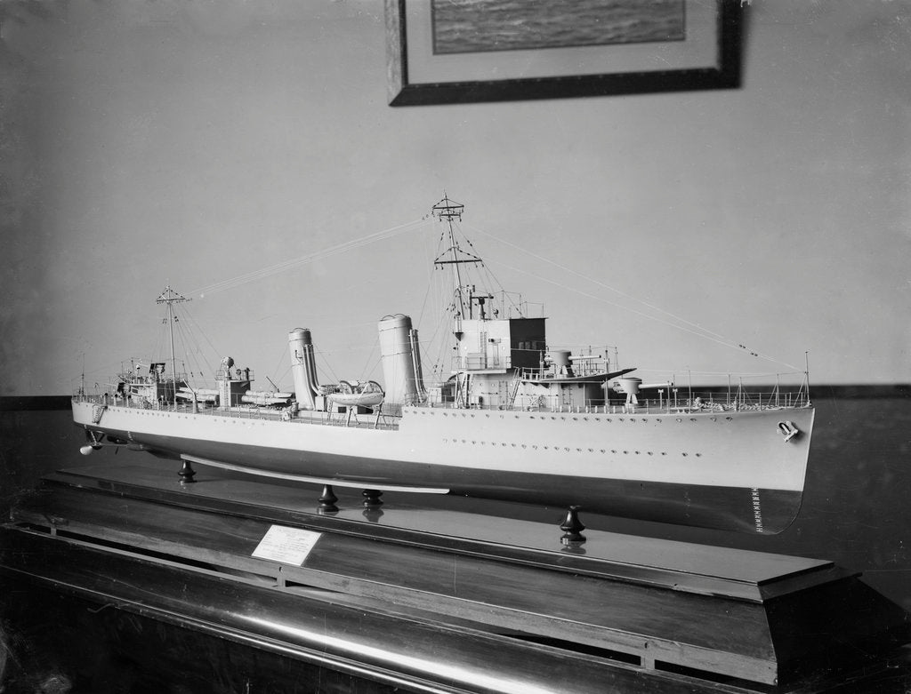 Detail of Builder's model of HMS 'Amazon' circa 1926 by unknown