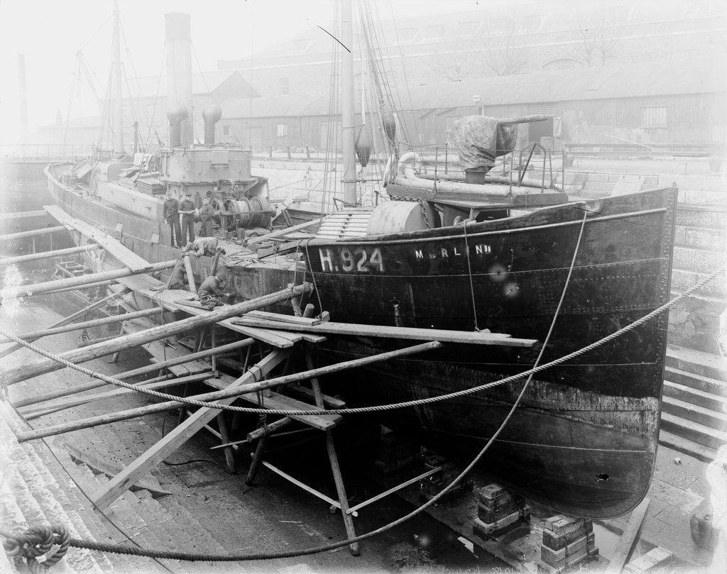 Detail of Trawler HMS 'Merlin II' (1906) by unknown