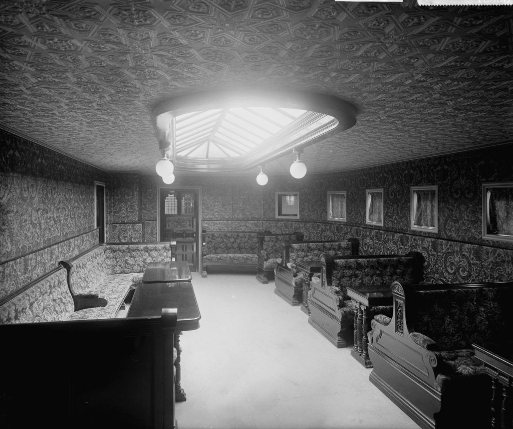 Detail of First Class Smoking Room of the 'Australia' (1892) by Bedford Lemere & Co.