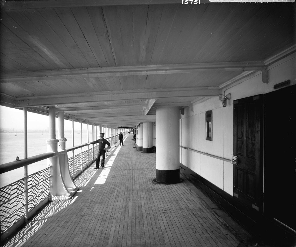 Detail of First Class Promenade on the 'Lucania' (1893) by Bedford Lemere & Co.