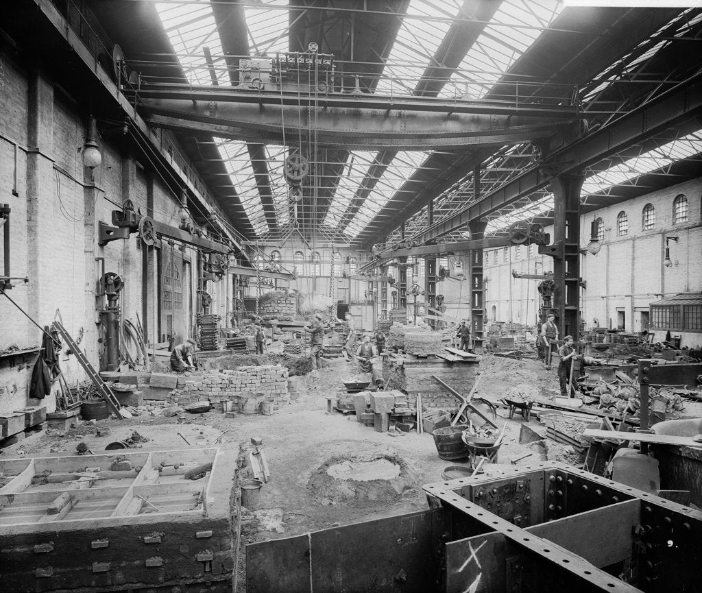 Detail of Brass Foundry at John Brown & Co. Ltd, Clydebank, 1901 by Bedford Lemere & Co.