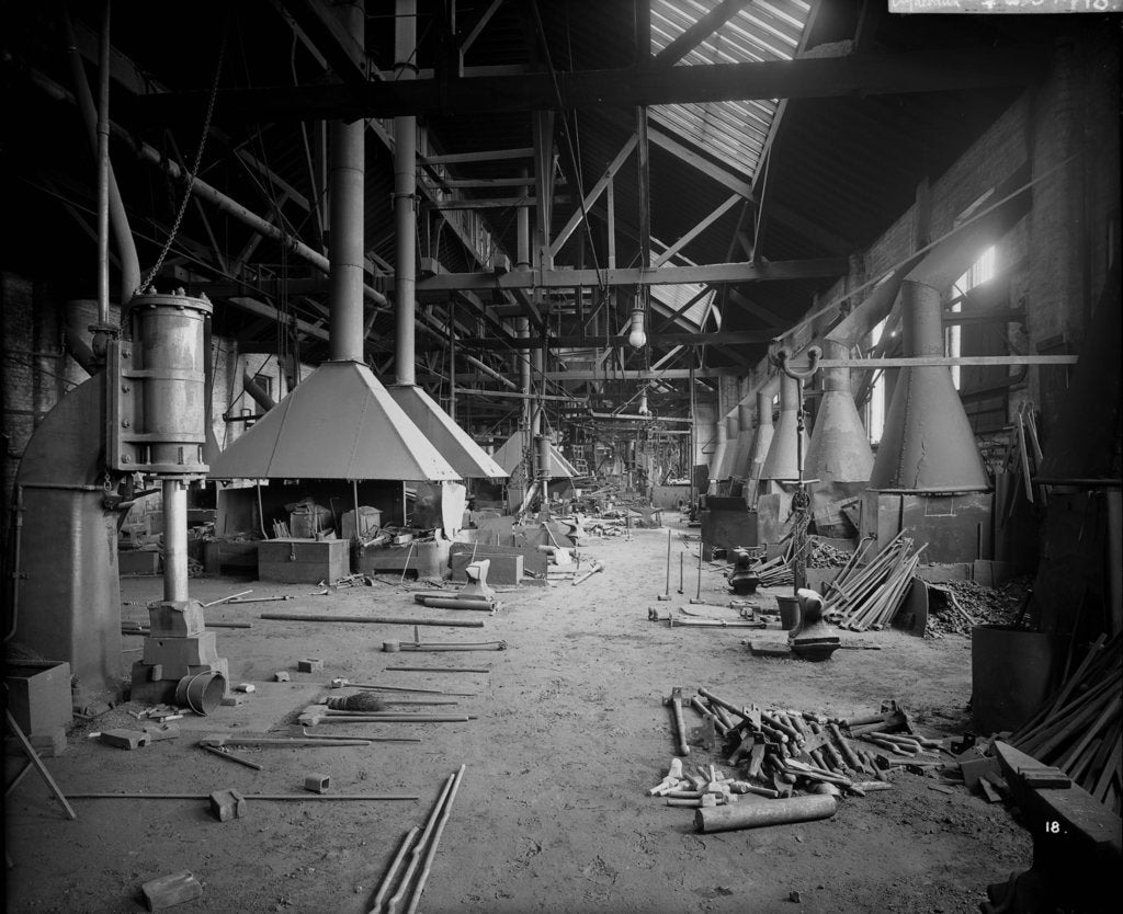 Detail of Shipyard Smithy at John Brown & Co. Ltd, Clydebank, 1901 by Bedford Lemere & Co.