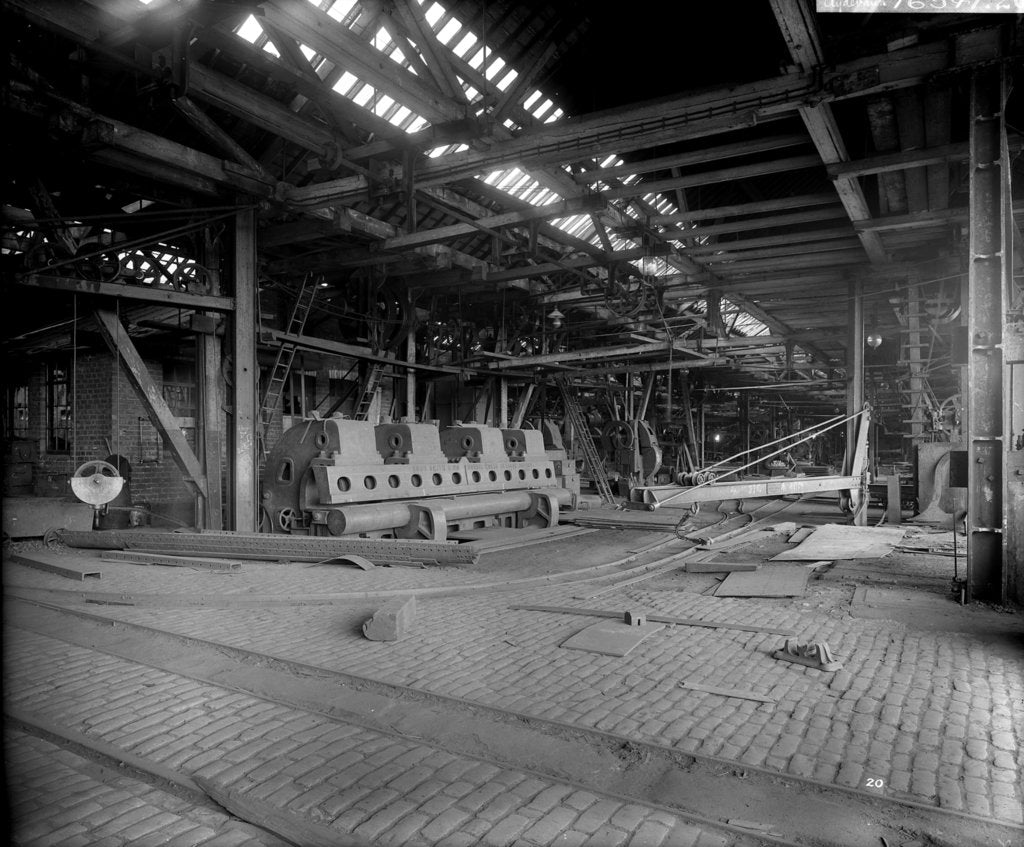 Detail of Platers' Machine Shed at John Brown & Co. Ltd, Clydebank, 1901 by Bedford Lemere & Co.