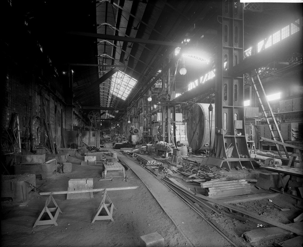 Detail of Boiler Works at John Brown & Co. Ltd, Clydebank, 1901 by Bedford Lemere & Co.