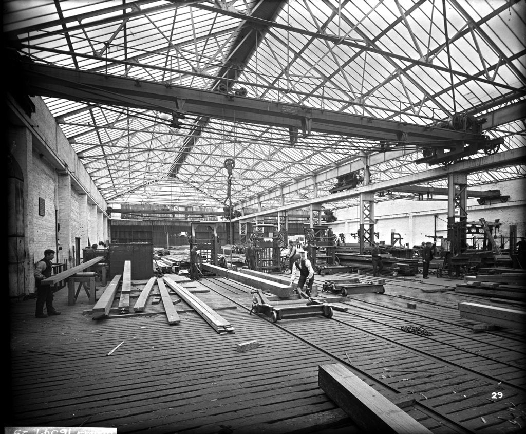 Detail of Sawmill at John Brown & Co. Ltd, Clydebank, 1901 by Bedford Lemere & Co.